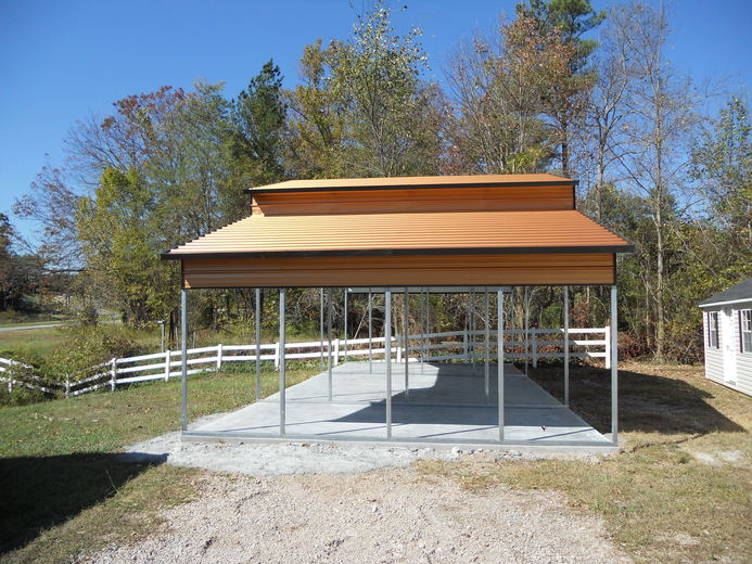 Amish Wood Carport : Carport from a frame to standard enclosures and