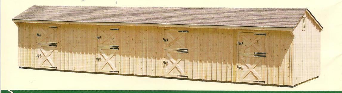 AMISH BARNS HORSE BARN - RUN IN SHED - Amish Barns